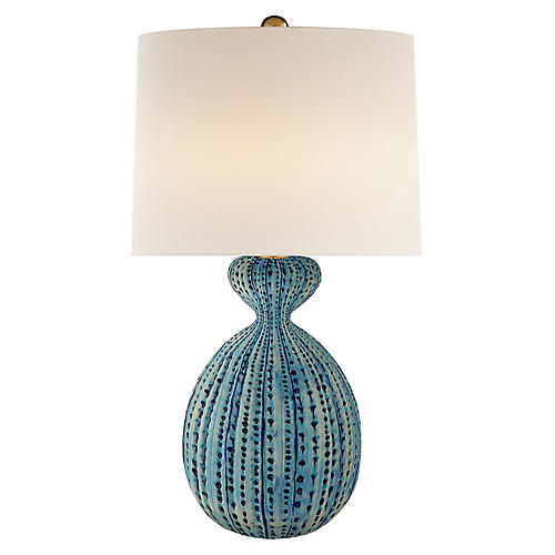 Gannet Table Lamp, Pebbled Aquamarine