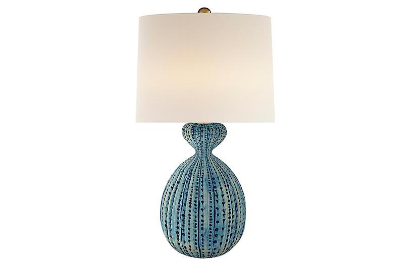 Gannet Table Lamp, Pebbled Aquamarine