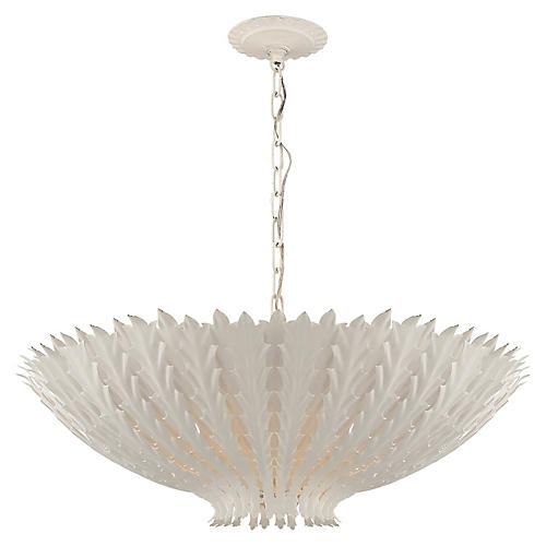 Hampton Large Pendant, Plaster White