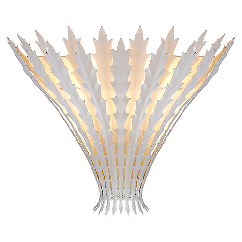 Hampton Sconce, Plaster White
