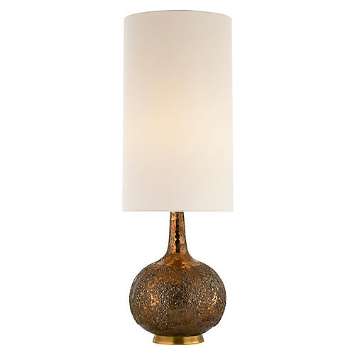 Hunlen Table Lamp, Burnt Gold