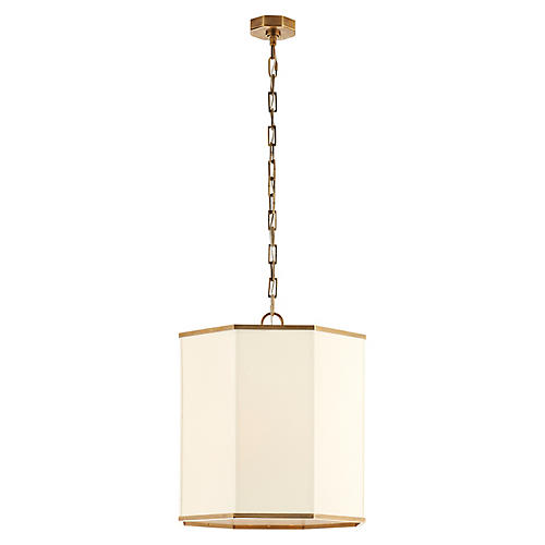 Laban Pendant, Antiqued Brass