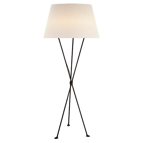 Lebon Floor Lamp, Aged Iron