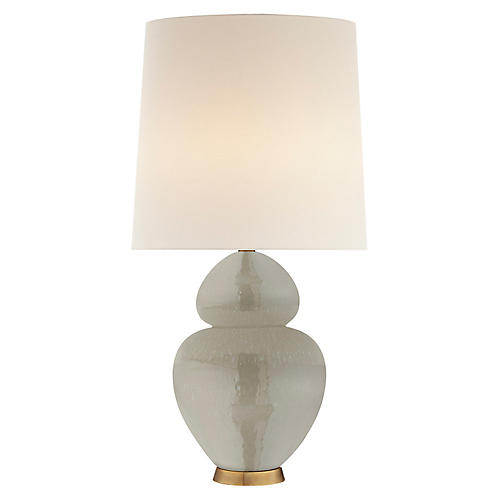 Michelena Table Lamp, Shellish Gray