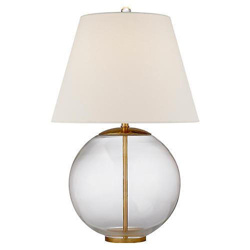 Morton Table Lamp, Clear/Gild