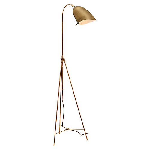 Sommerard Floor Lamp, Antiqued Brass