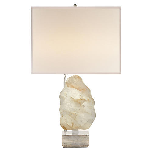Trieste Table Lamp, Silver Leaf/Natural