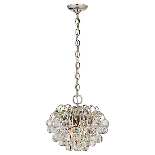 Bellvale Small Chandelier, Polished Nickel