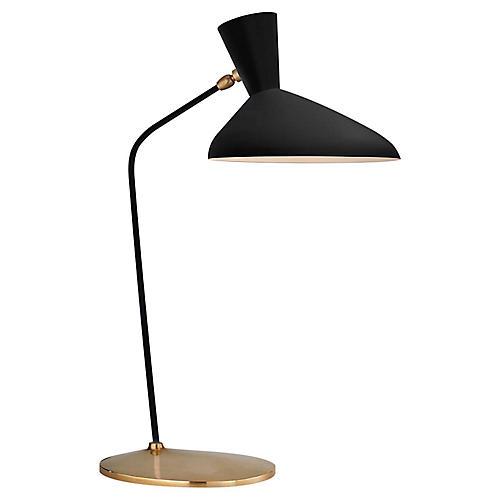 Austen Large Offset Table Lamp, Black