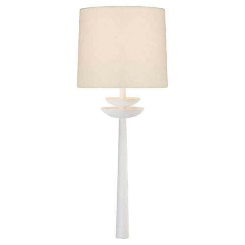 Beaumont Medium Tail Sconce, White