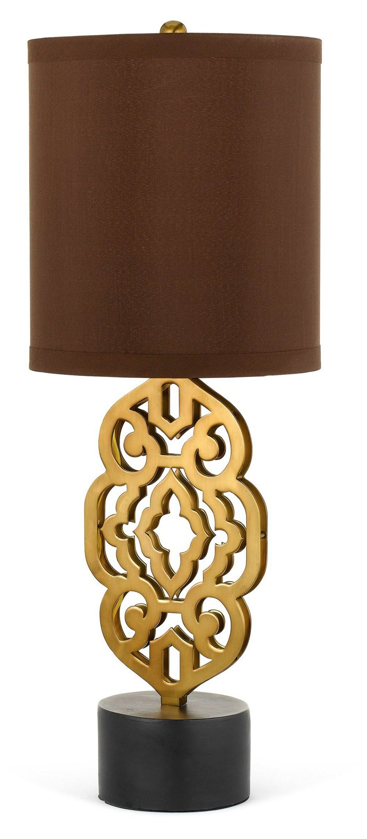 Grill Table Lamp, Antique Brass