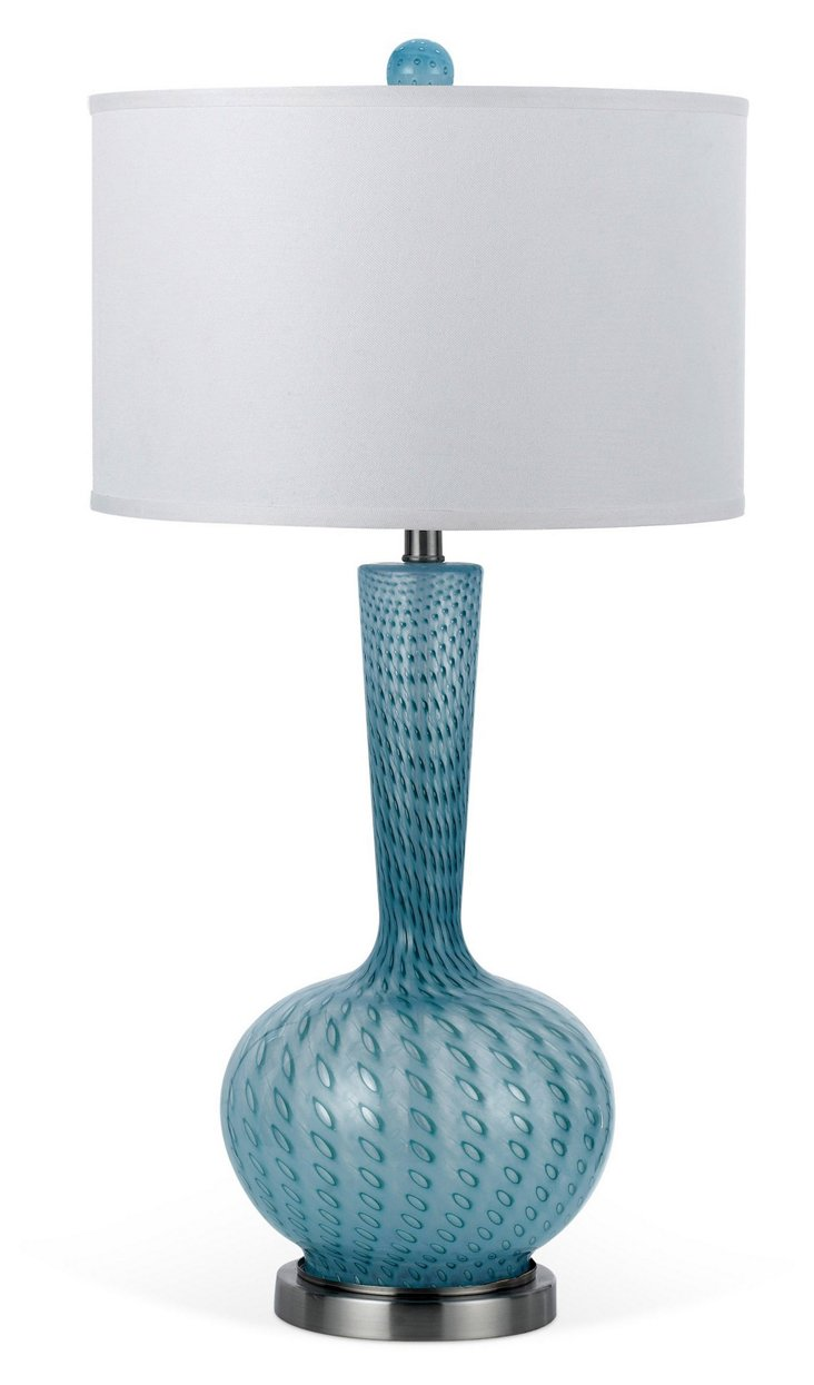 Oasis Hand-Blown Table Lamp, Sea Blue