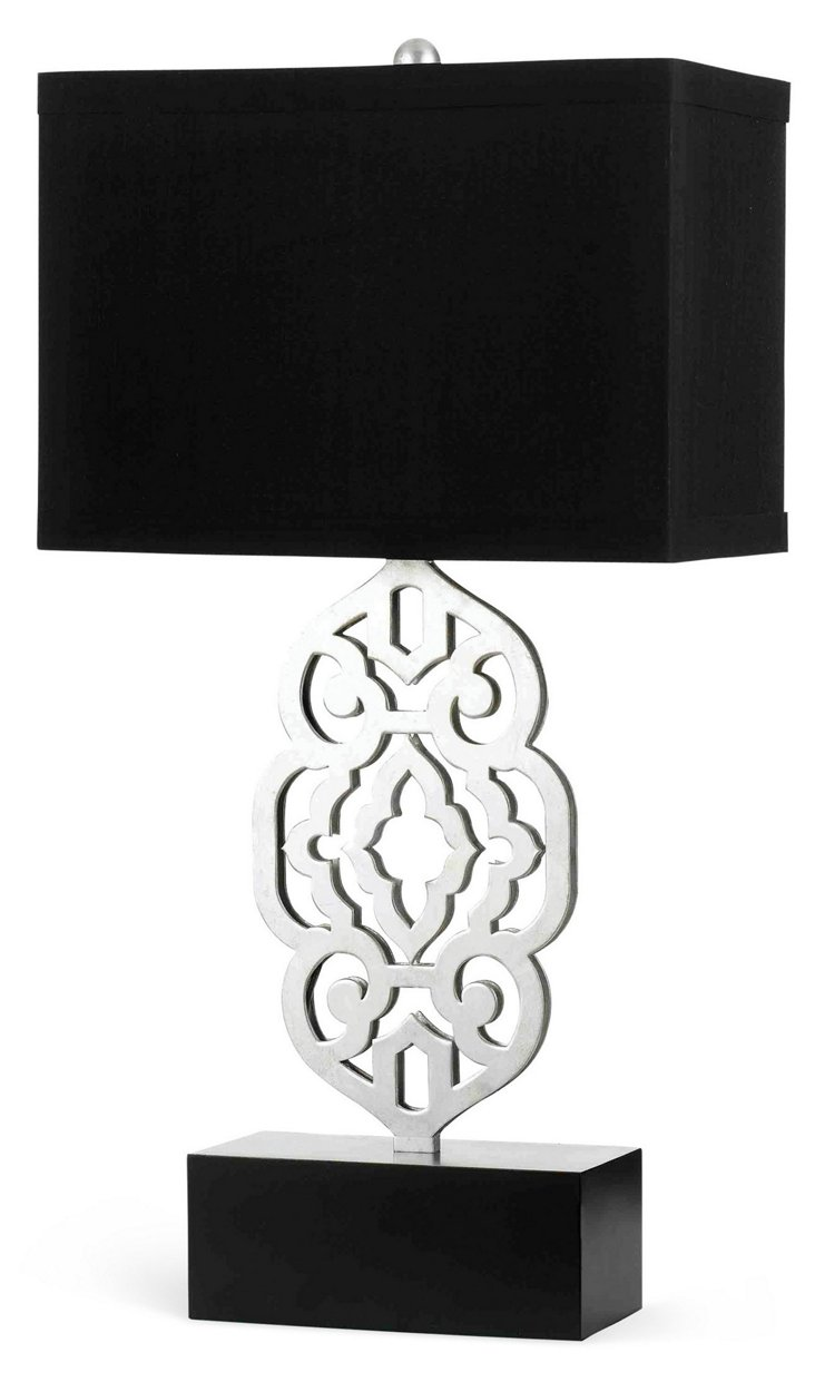 Grill Table Lamp, Silver