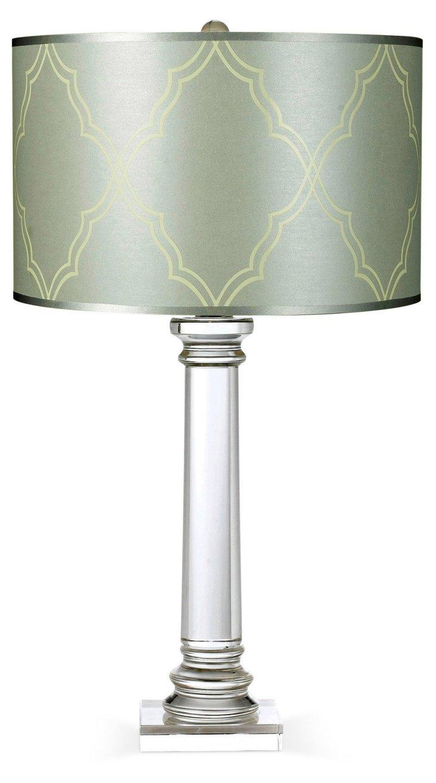 Trellis Table Lamp, Crystal