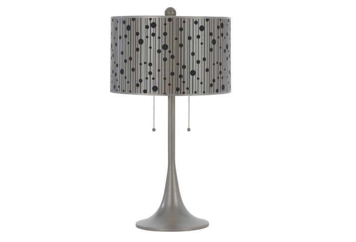 Drizzle Table Lamp, Gray