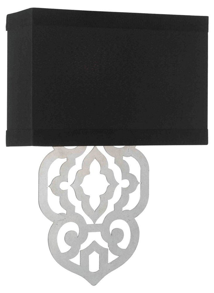Grill 2-Light Wall Sconce, Silver