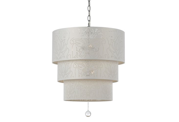 Over The Top 5-Light Pendant, Crystal