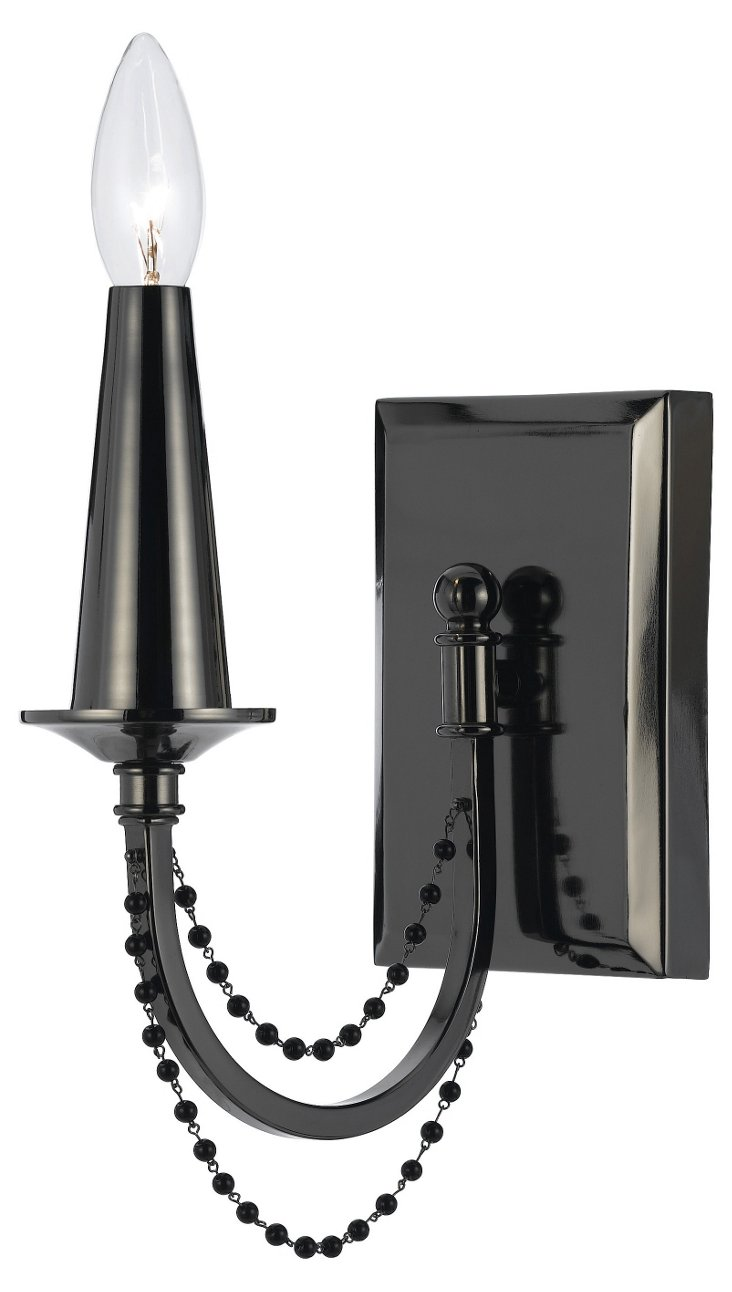 Shelby Wall Sconce, Black