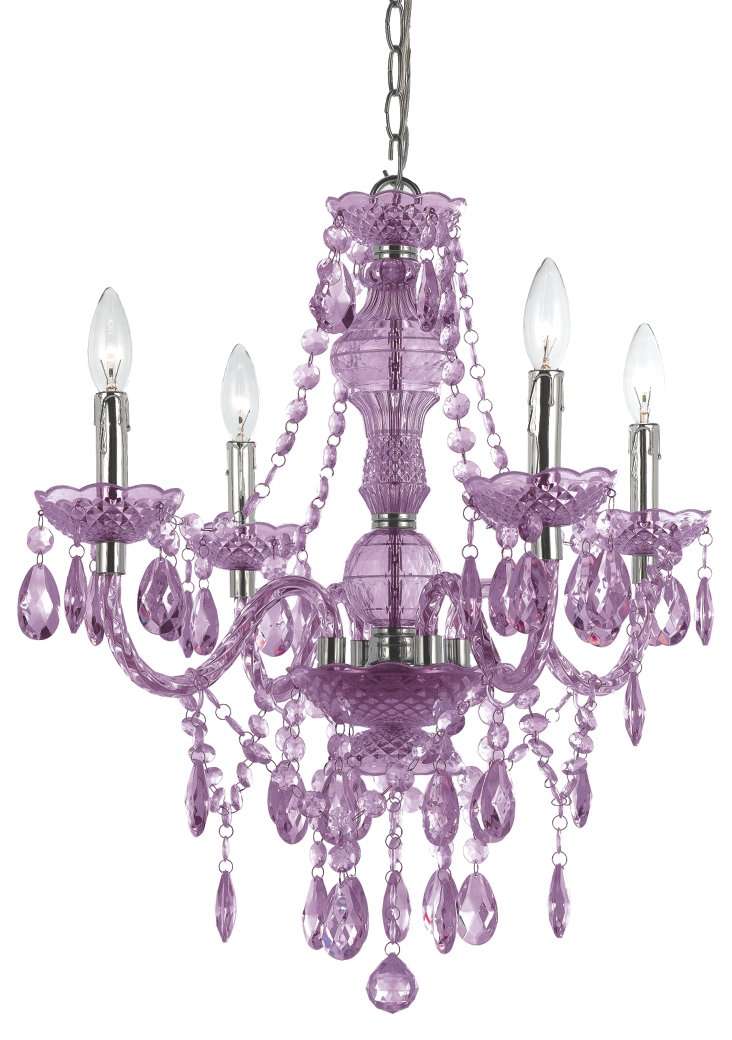 Naples 4-Light Chandelier, Lilac