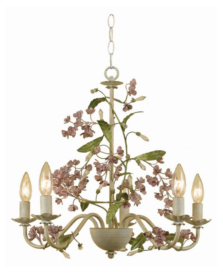 Grace 5-Light Chandelier, Spring Green