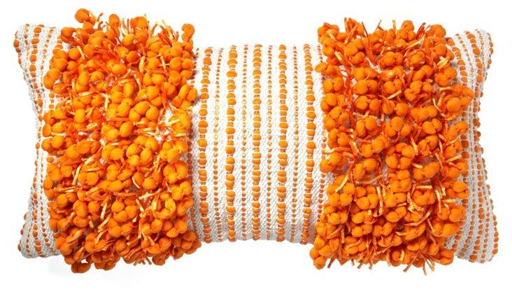 Funberry Striped 14x28 Pillow, Orange