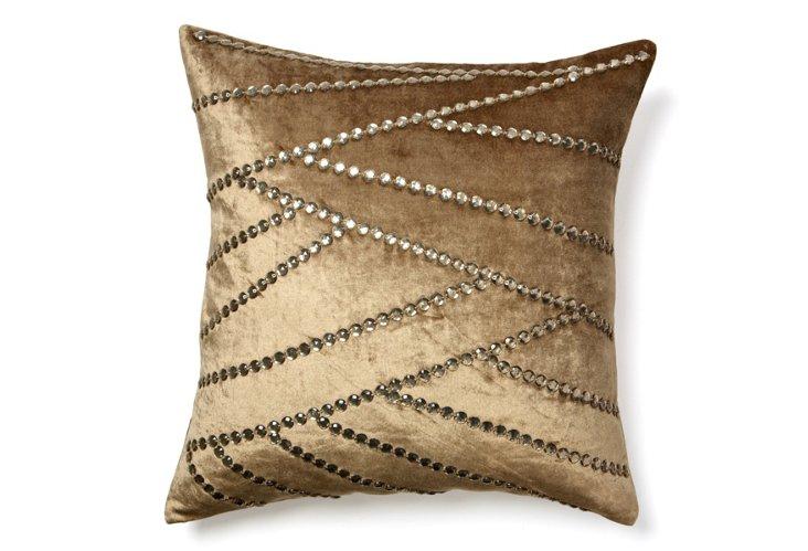 Asymmetric 20x20 Pillow, Light Brown