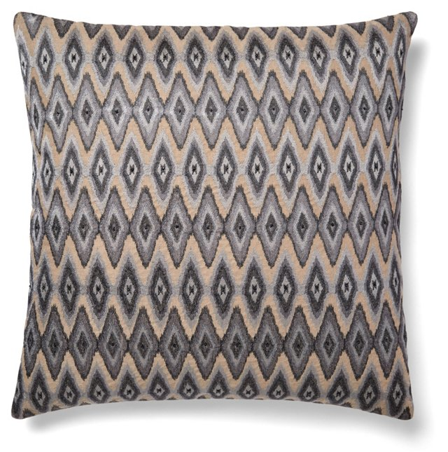 Shar 20x20 Linen Pillow, Gray