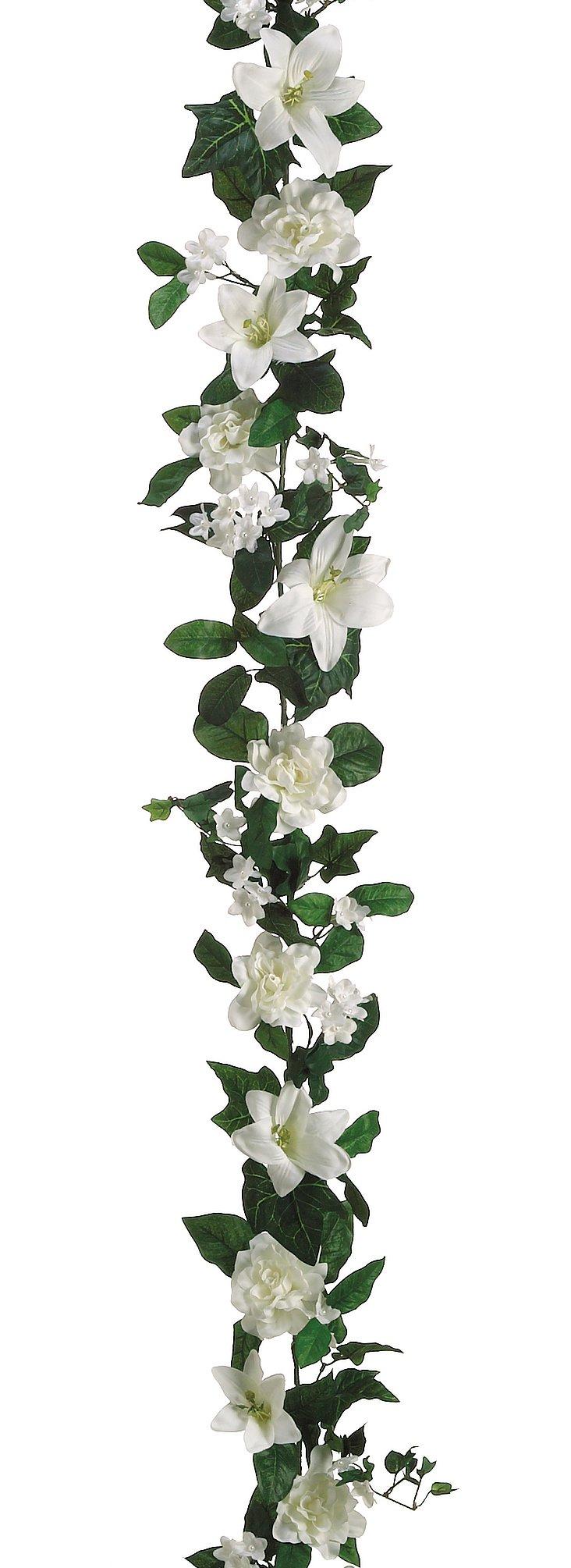 6' Lily & Gardenia Garland, Faux