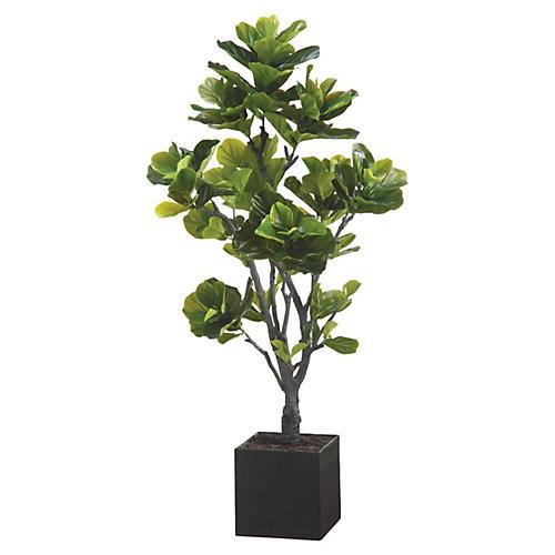 6' Eva Fiddle Tree, Faux