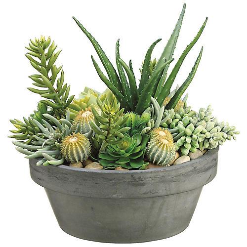 """15"""" Succulent Plant, Faux"""
