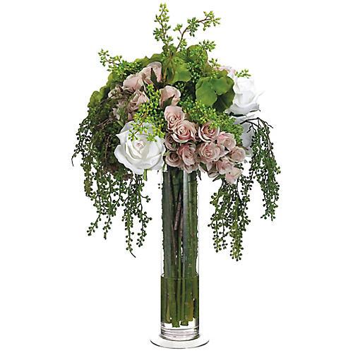 "23"" Hydrangea Mixed Bloom Arrangement, Faux"