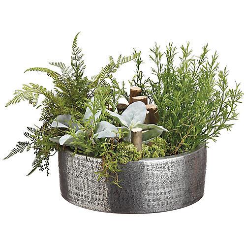 "23"" Mixed Garden Plant, Faux"