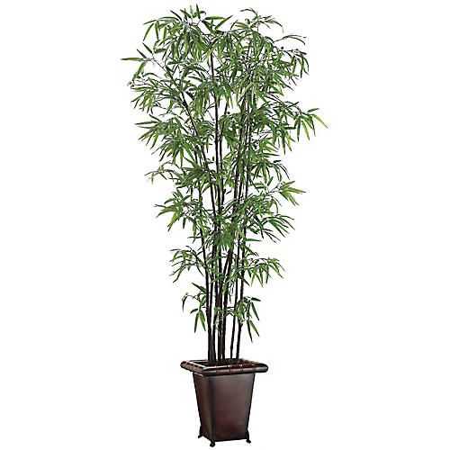 """48"""" Black Bamboo Plant, Faux"""