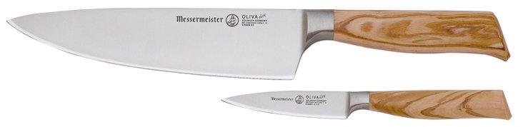 2-Pc Chef & Parer Knife Set