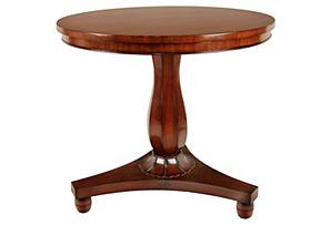 """Abbey 33"""" Round Dining Table, Mahogany"""