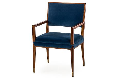 Reform Armchair, Blue Velvet