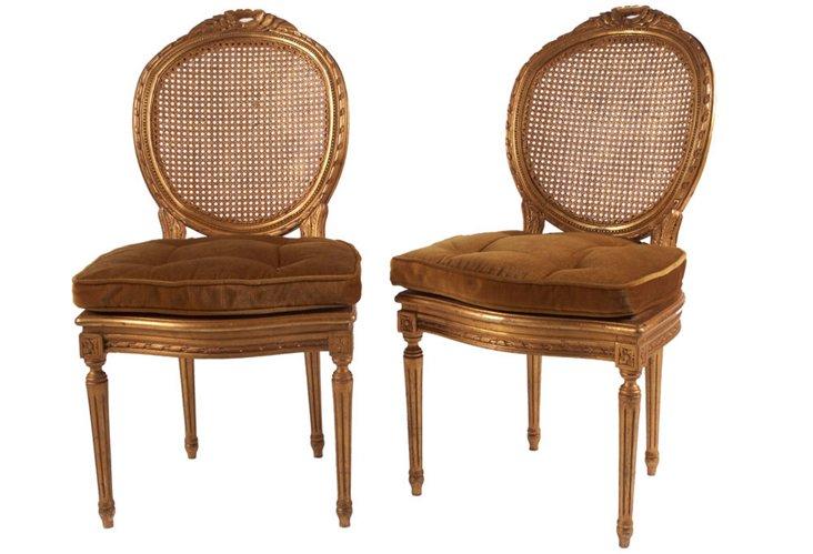 Antique Italian Chairs, Pair