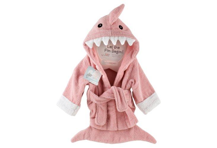 Shark Terry Robe, Pink
