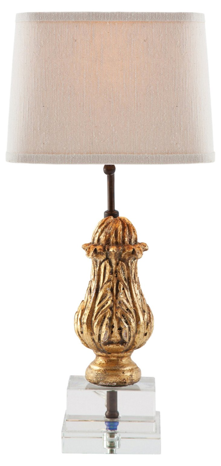 Olivia Accent Table Lamp, Weathered Gold