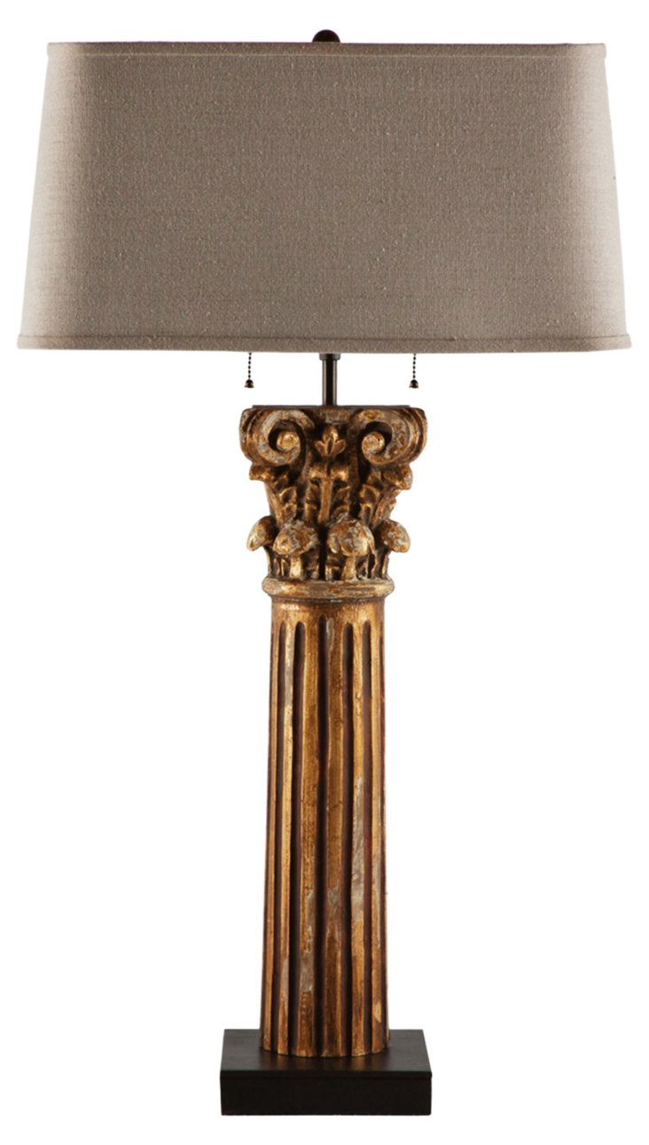 Pippa Table Lamp, Weathered Gold