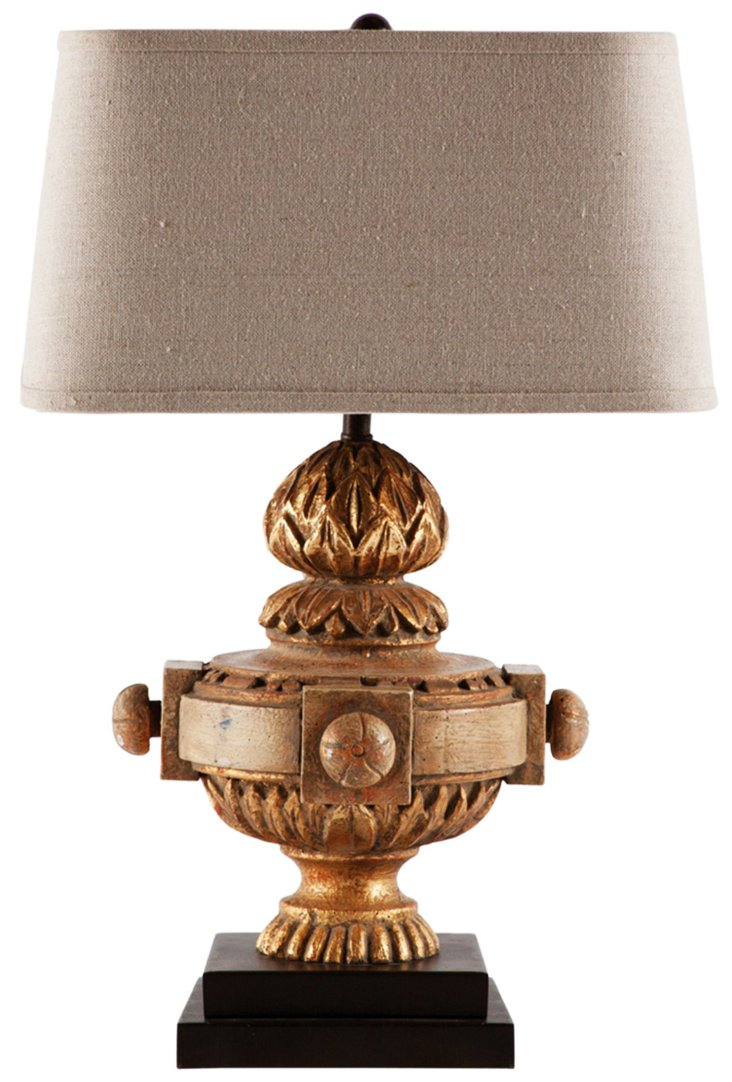 Kavala Table Lamp, Weathered Gold