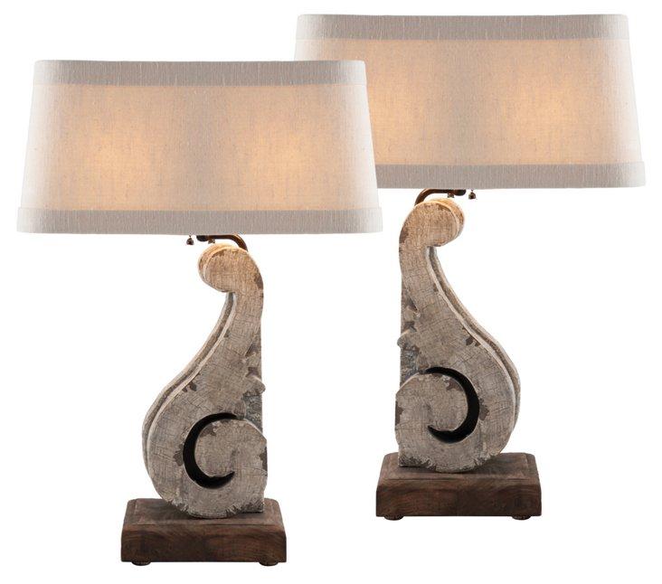 Corbel Lamp Set