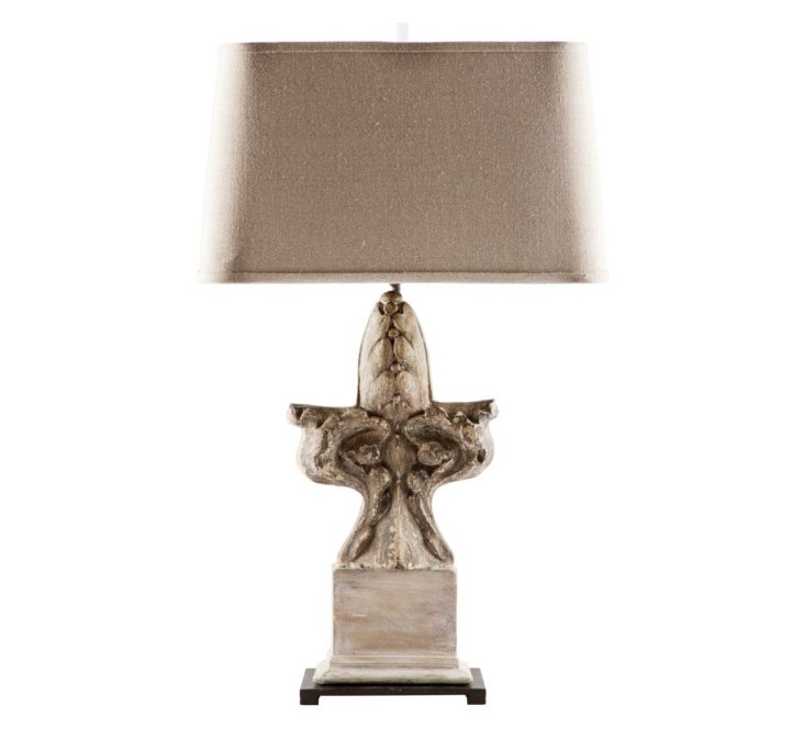 Du Monde Table Lamp, Gray