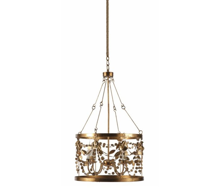 Garland 4-Light Pendant, Gold