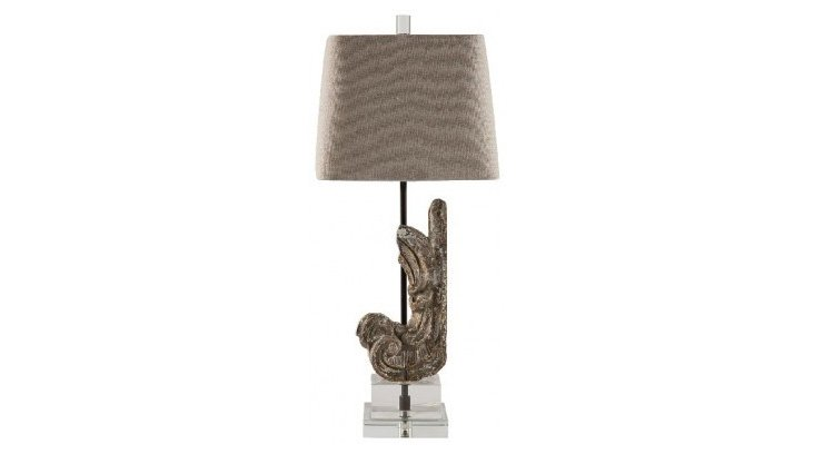 Natalie Table Lamp, Antiqued Brass