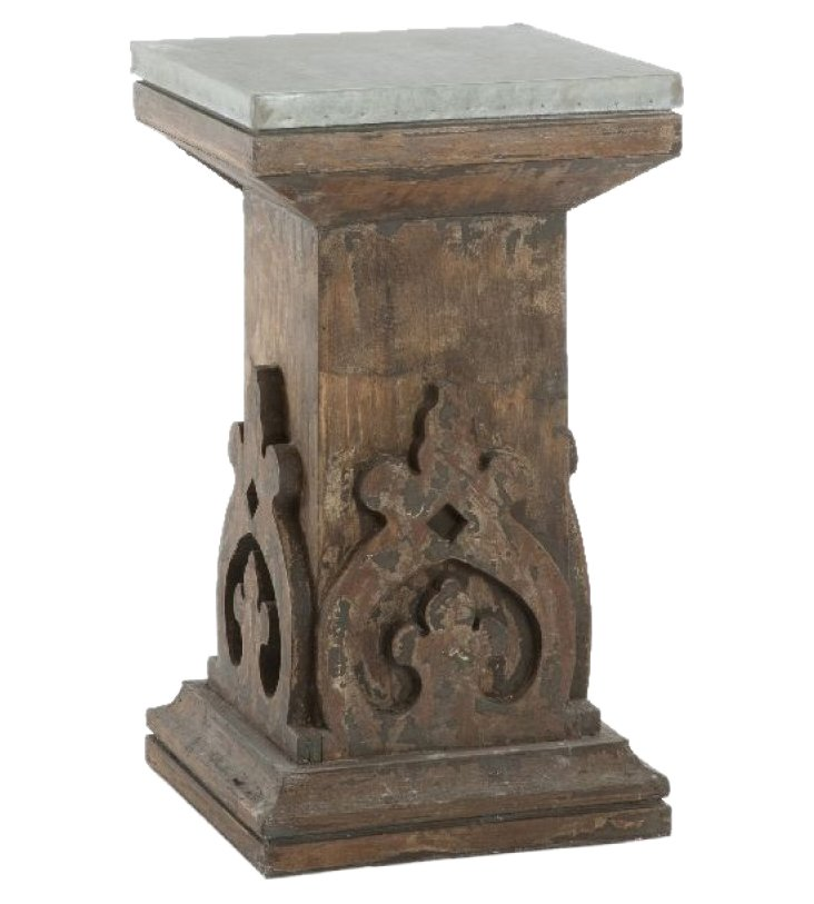"""Rho 14"""" Wooden Side Table, Chocolate"""