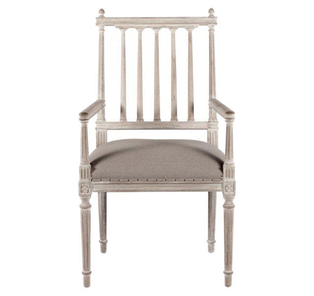 Coyle Dining Armchair, Stone Gray