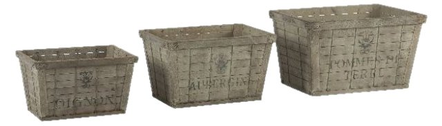 French Industrial Crates, Set of 3