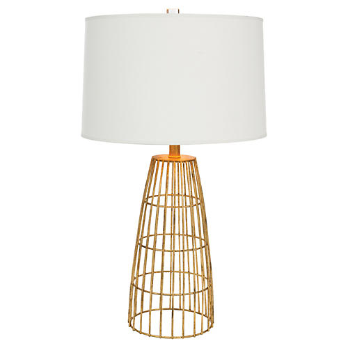 Bowman Table Lamp, Antiqued Gold