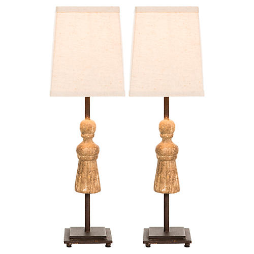 English Table Lamp, Aged Gold